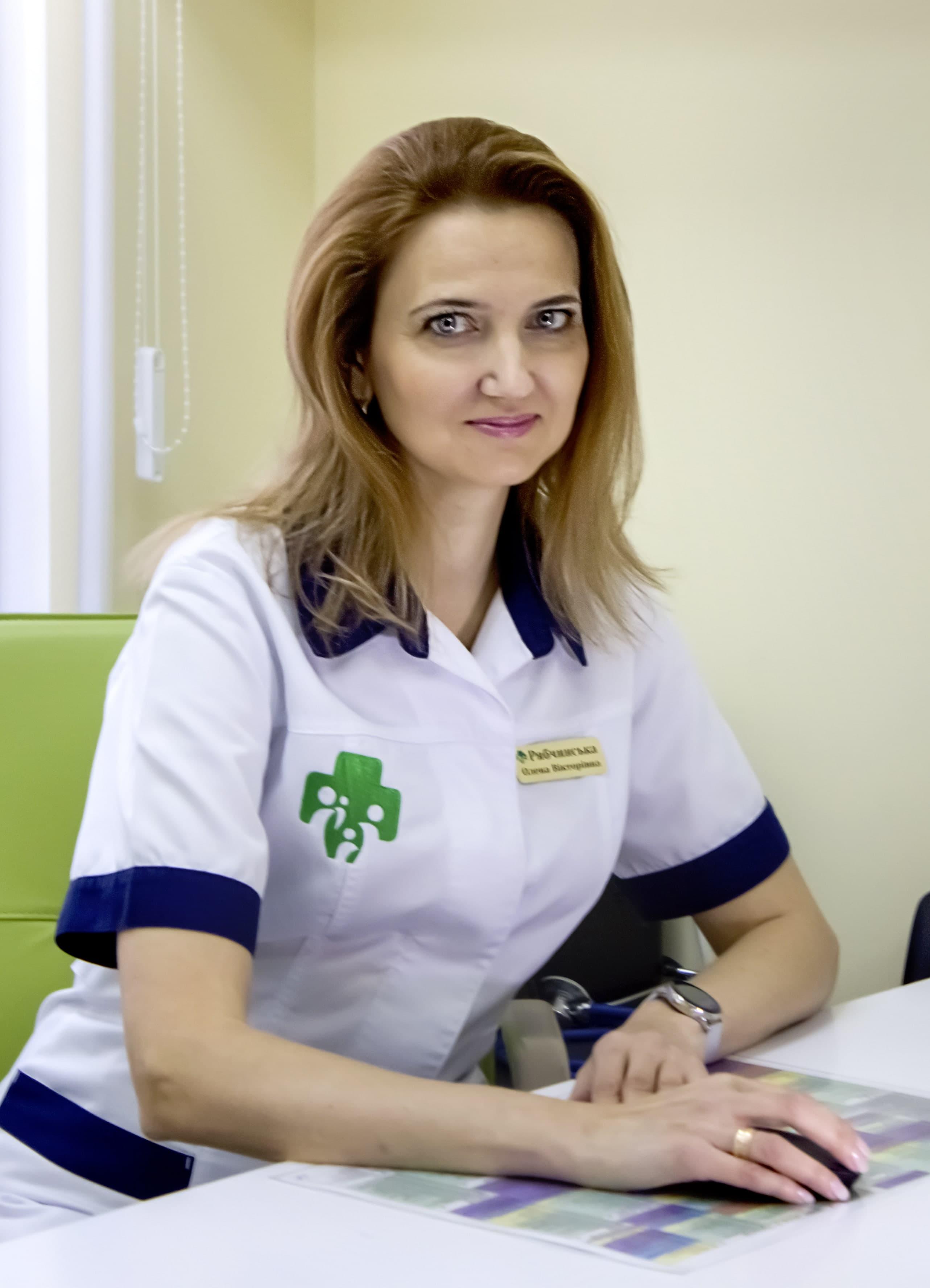 Рябчинская Елена Викторовна - семейный врач высшей категории